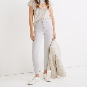 """Madewell • 10"""" Hi-Rise Skinny Crop Button Fly"""
